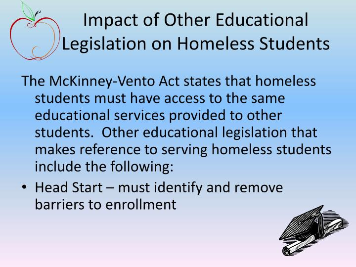 Impact of Other Educational Legislation on Homeless Students