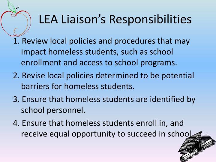 LEA Liaison's Responsibilities