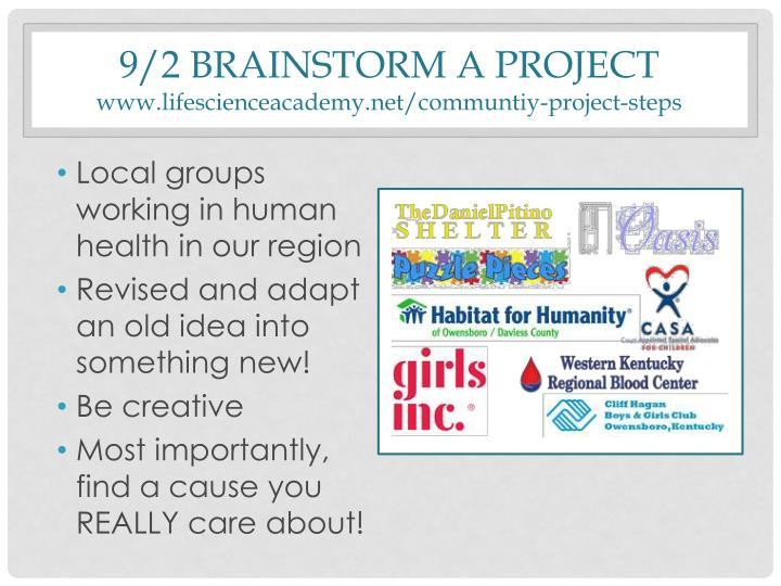 9/2 Brainstorm a