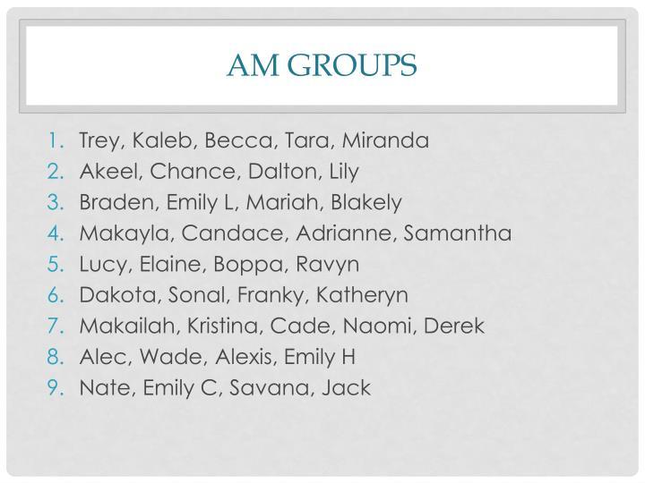 AM Groups