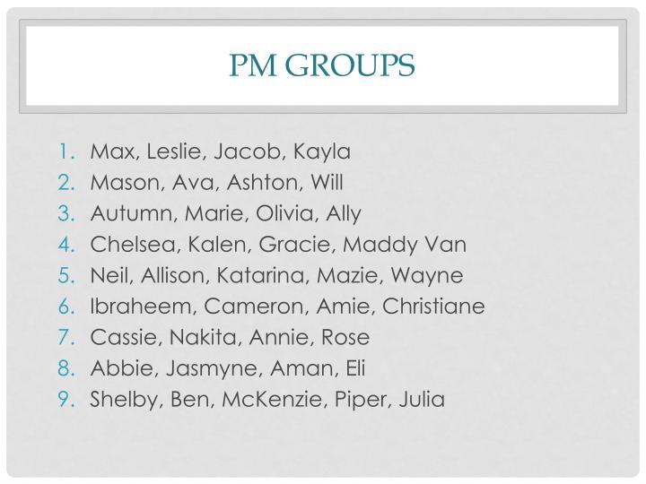 PM Groups