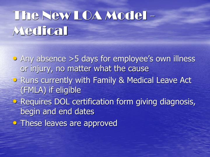 The New LOA Model - Medical
