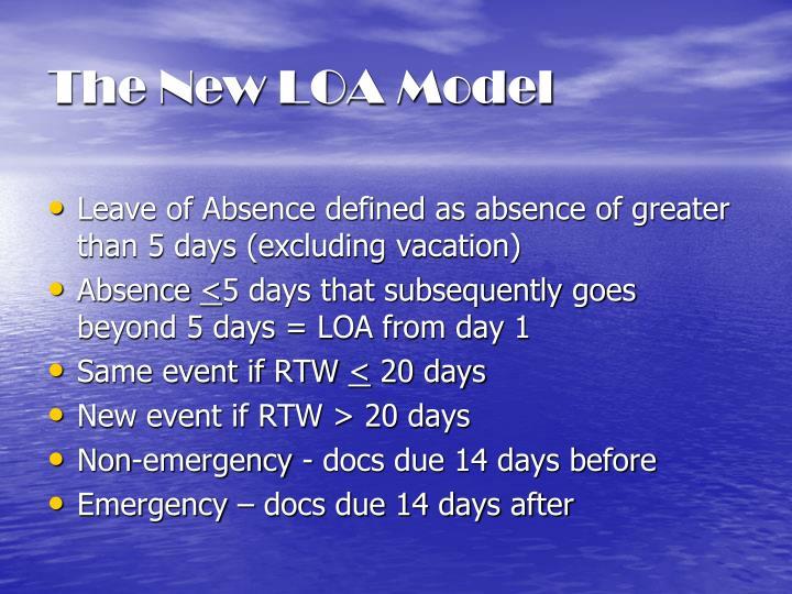 The New LOA Model