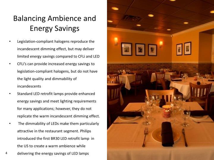 Balancing Ambience and Energy