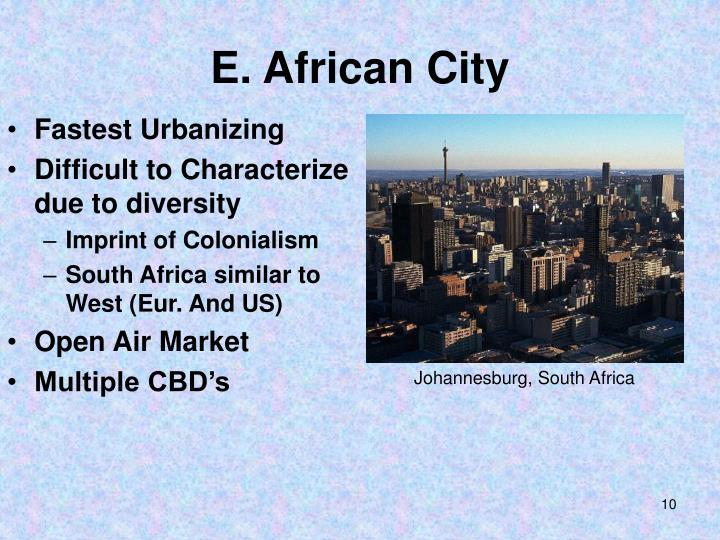 E. African City