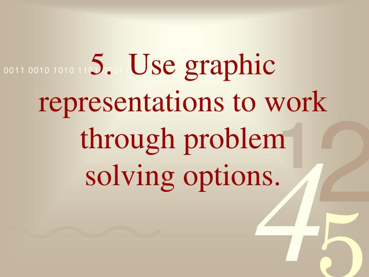 5.  Use graphic representations to work through problem solving options.