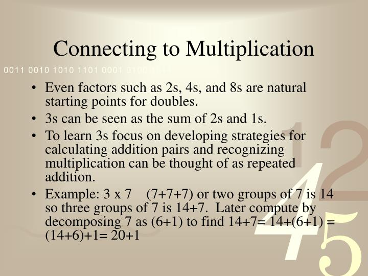 Connecting to Multiplication