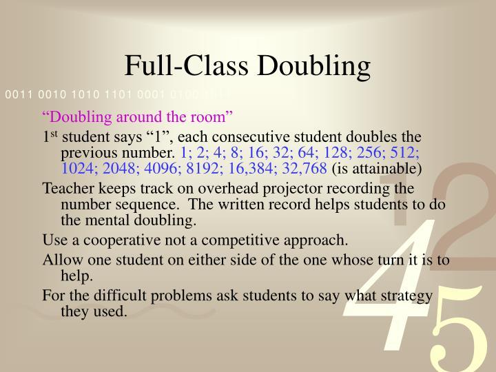 Full-Class Doubling