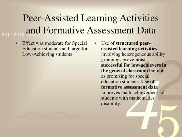 Effect was moderate for Special Education students and large for Low-Achieving students