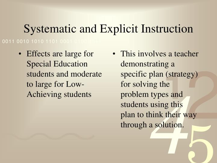 Effects are large for Special Education students and moderate to large for Low-Achieving students