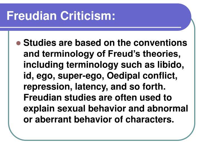 Freudian Criticism: