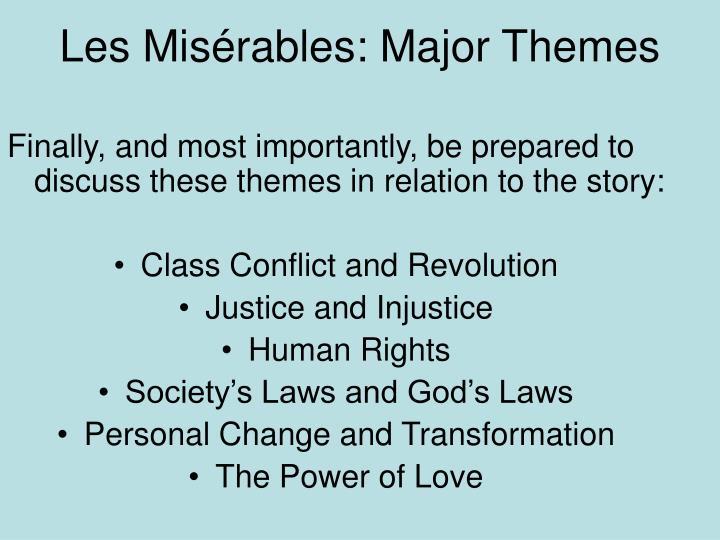 Les Misérables: Major Themes