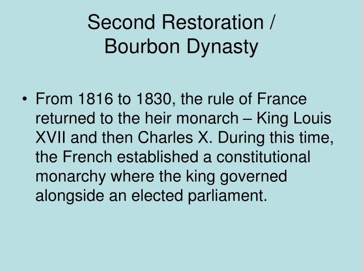 Second Restoration /