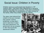 social issue children in poverty