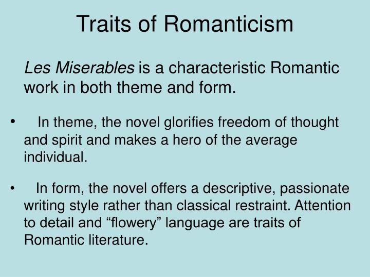 Traits of Romanticism