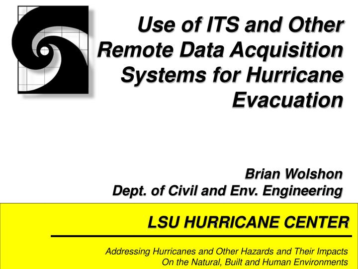 lsu hurricane center