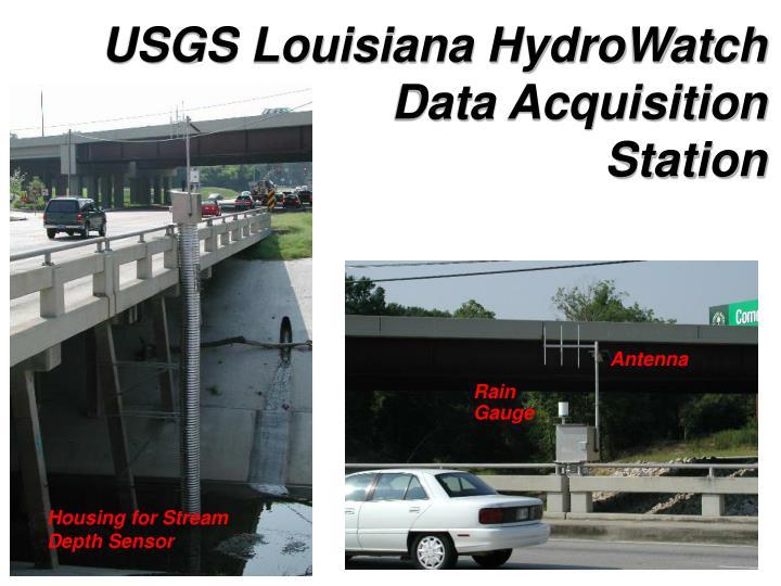 USGS Louisiana HydroWatch Data Acquisition