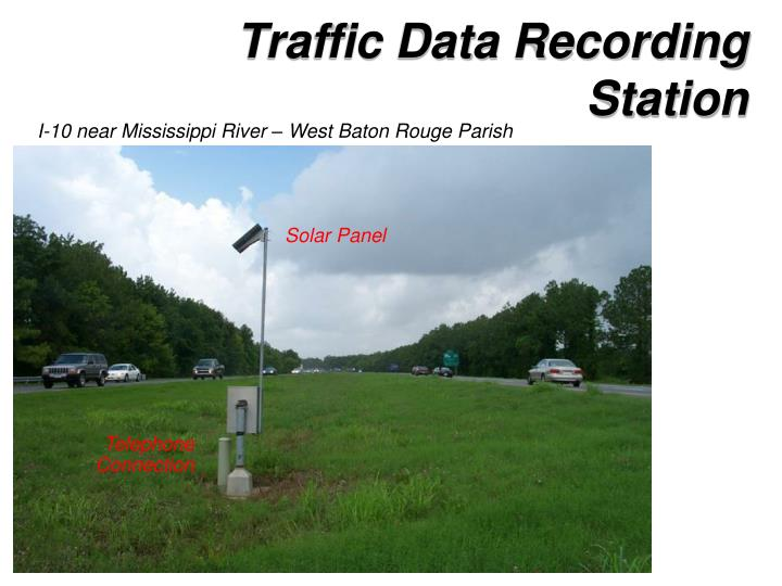 Traffic Data Recording Station