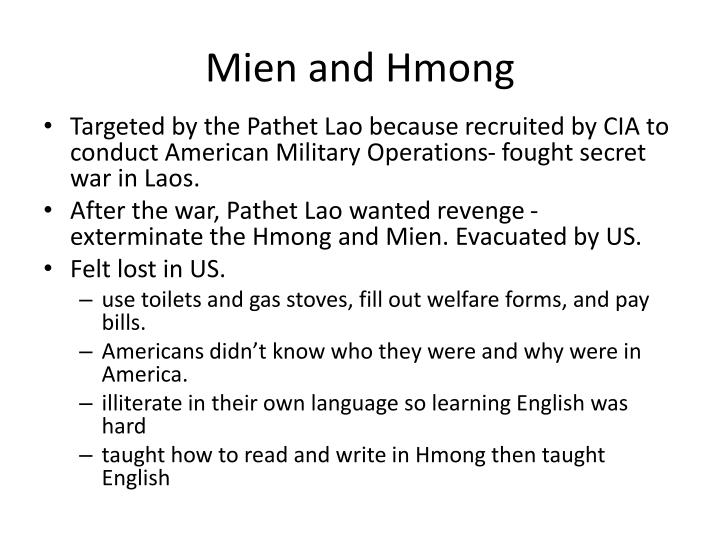 Mien and Hmong