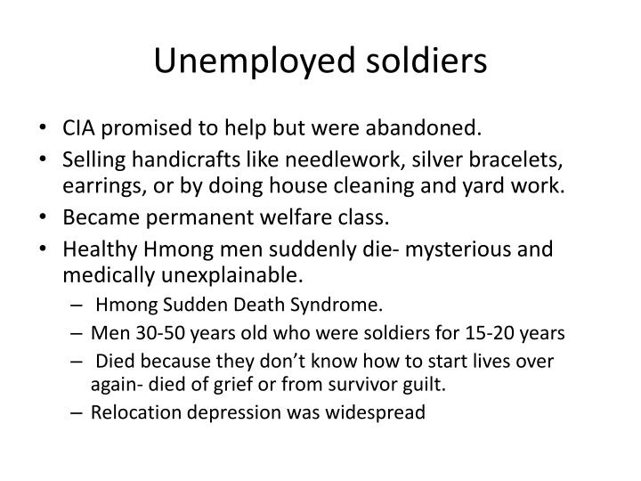 Unemployed soldiers