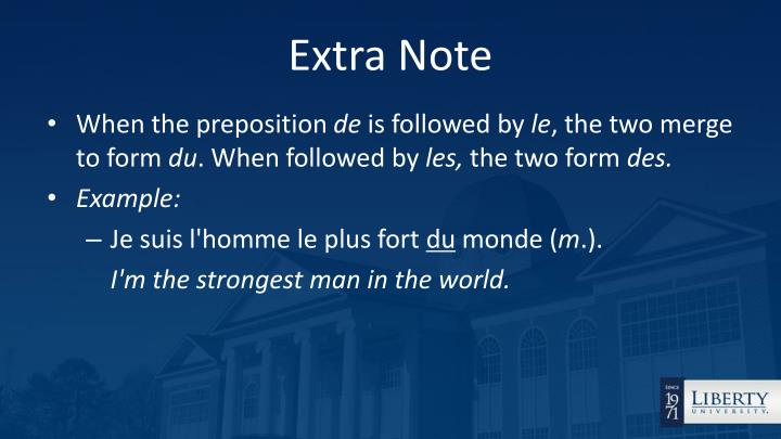 Extra Note
