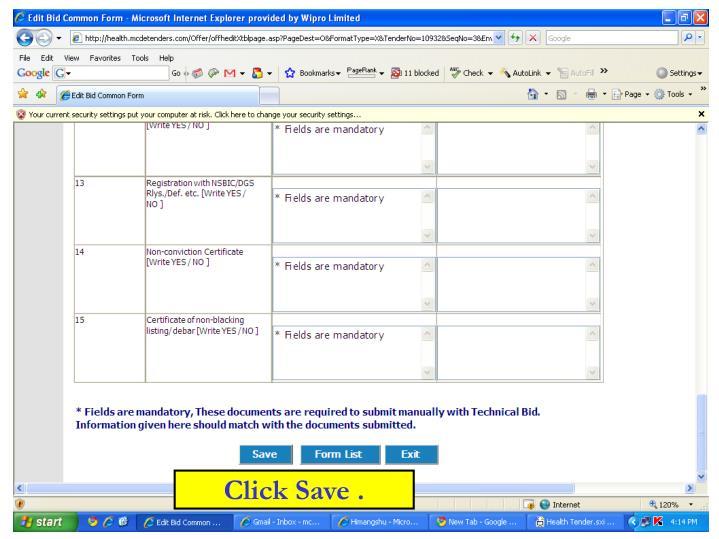 Click Save .