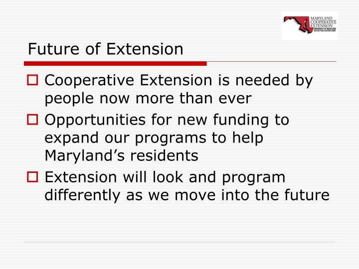 Future of Extension