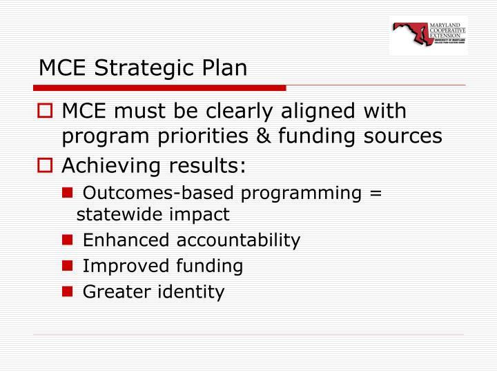 MCE Strategic Plan