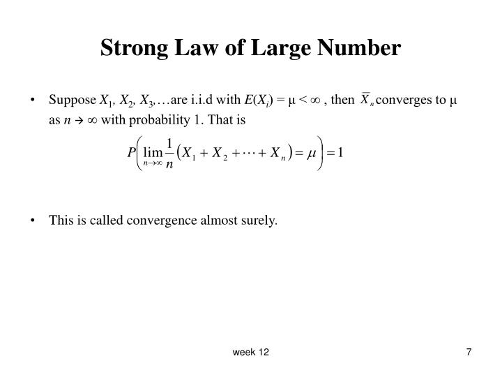 Strong Law of Large Number
