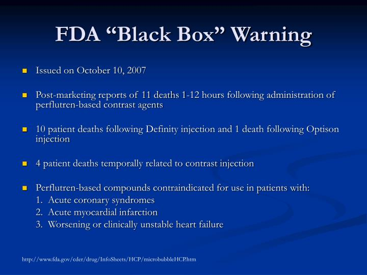 "FDA ""Black Box"" Warning"