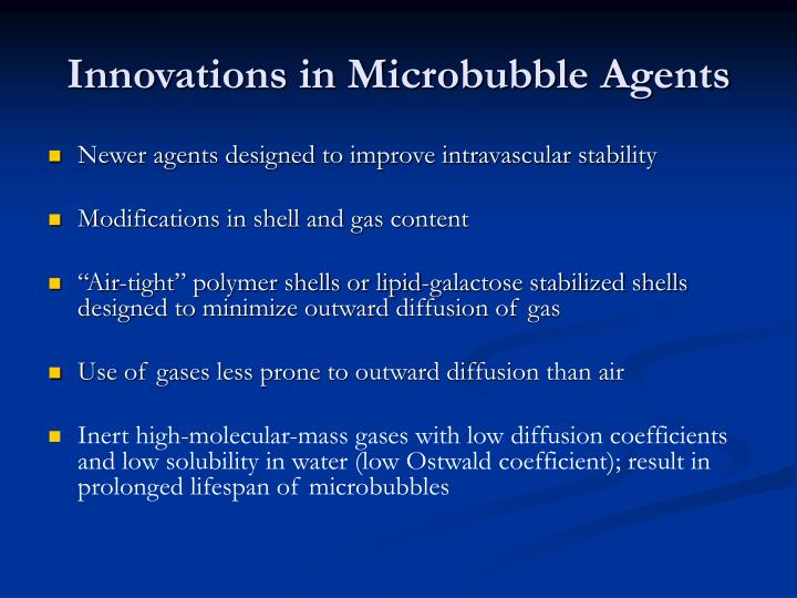 Innovations in Microbubble Agents