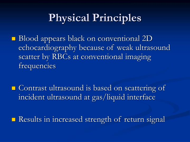 Physical Principles