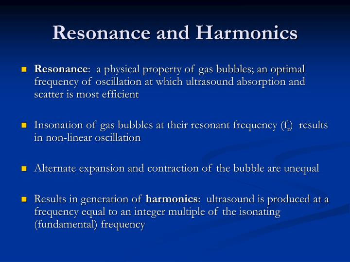 Resonance and Harmonics
