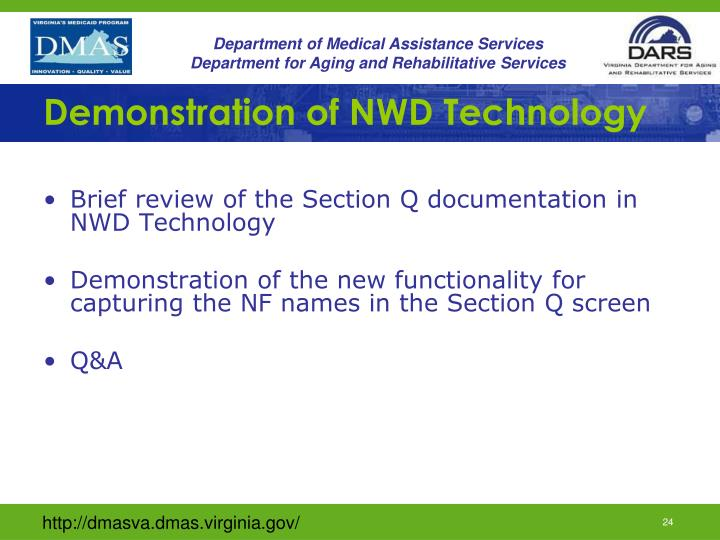 Demonstration of NWD Technology