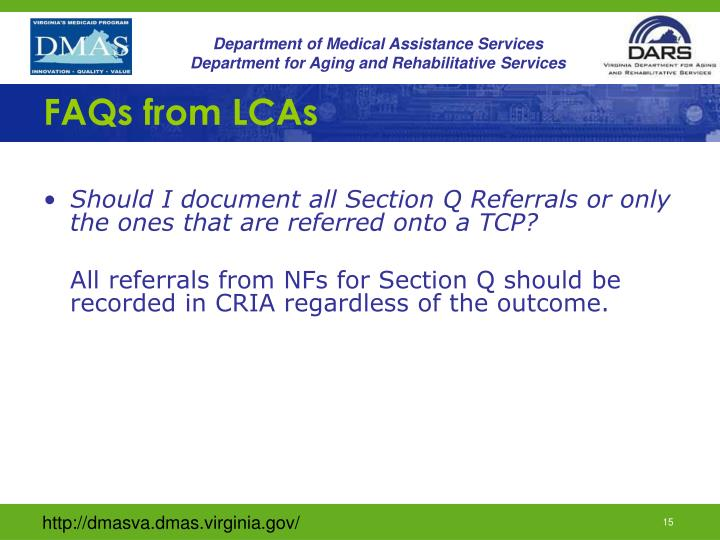 FAQs from LCAs