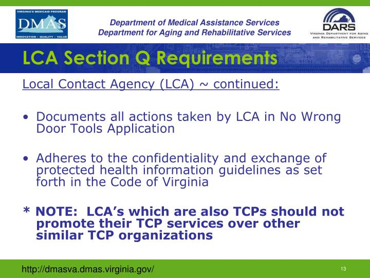 LCA Section Q Requirements