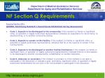 nf section q requirements1