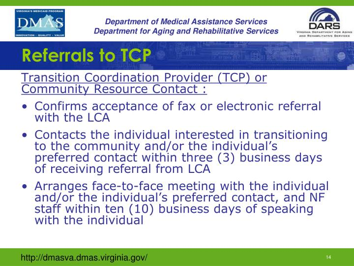 Referrals to TCP