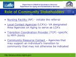 role of community stakeholders