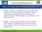role of state level stakeholders