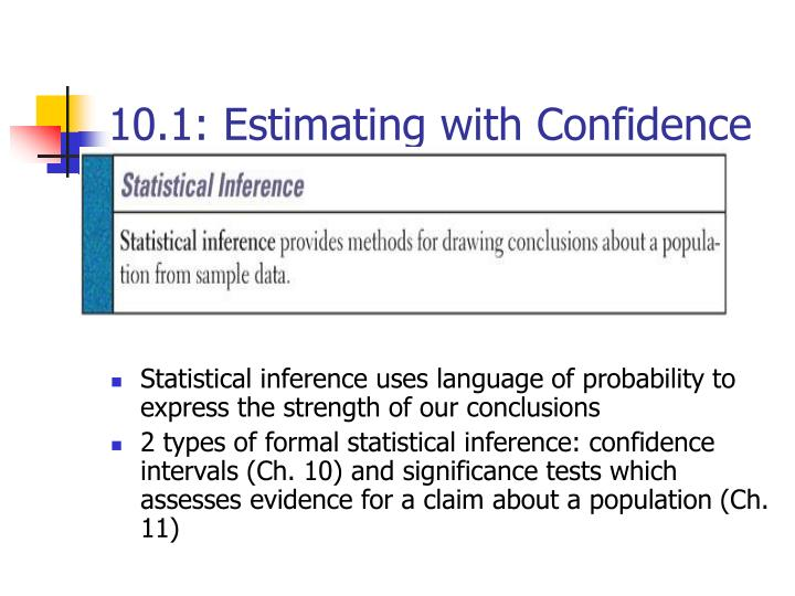 10 1 estimating with confidence