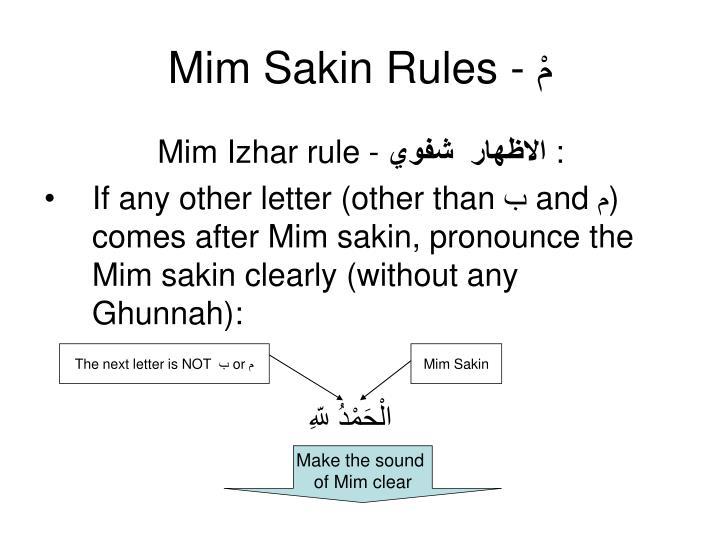 Mim Sakin Rules -