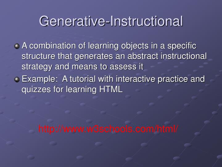 Generative-Instructional