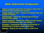 basic instrument components