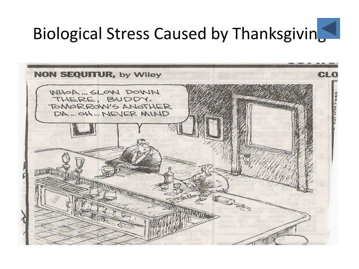 Biological Stress Caused by Thanksgiving