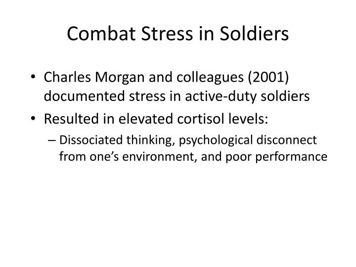 Combat Stress in Soldiers
