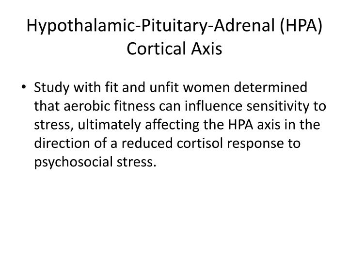 Hypothalamic-Pituitary-Adrenal (HPA) Cortical Axis