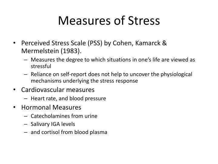 Measures of Stress