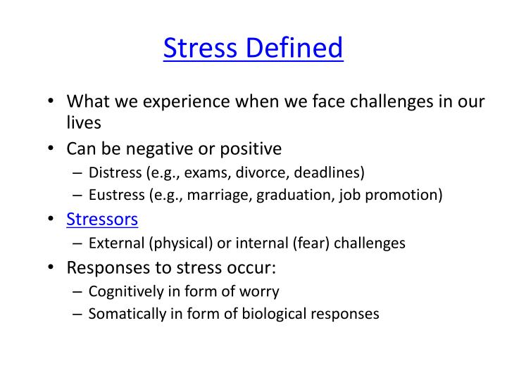 Stress Defined
