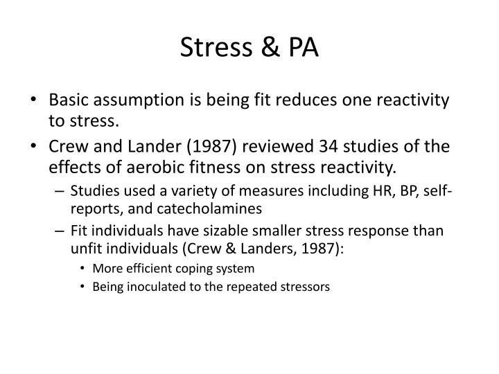 Stress & PA